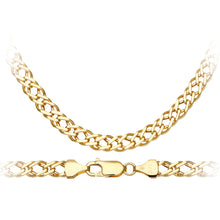 Load image into Gallery viewer, 9ct Yellow Gold 9.0g Double Curb Necklace of 51cm/20 Inch Length and 6mm Width