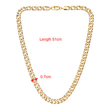 Load image into Gallery viewer, 9ct Yellow Gold 13.5g Chunky Double Curb Necklace of 51cm/20 Inch Length and 7mm Width