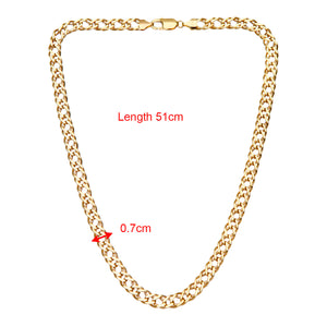 9ct Yellow Gold 13.5g Chunky Double Curb Necklace of 51cm/20 Inch Length and 7mm Width