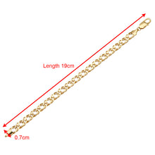 Load image into Gallery viewer, 9ct Yellow Gold 5g Chunky Double Curb Bracelet of 19cm/7.5 Inch Length and 7mm Width