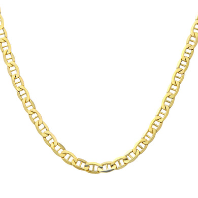 9ct Yellow Gold Fine Anchor Chain of 18 Inch/46cm Length and 0.3cm Width