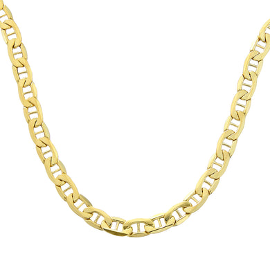 9ct Yellow Gold Anchor Chain of 18 Inch/46cm Length and 0.5cm Width