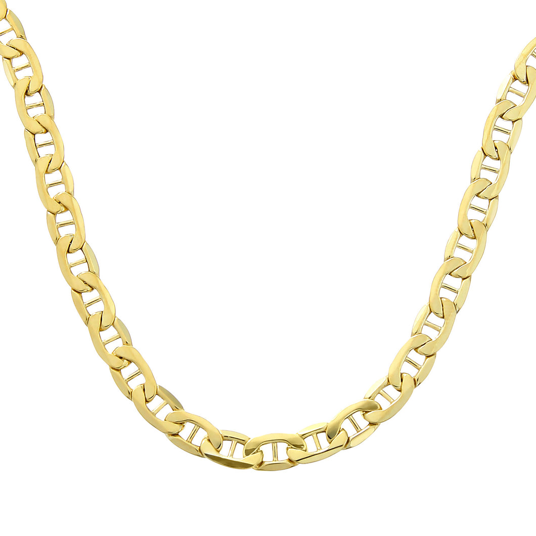 9ct Yellow Gold Anchor Chain of 22 Inch/56cm Length and 0.5cm Width