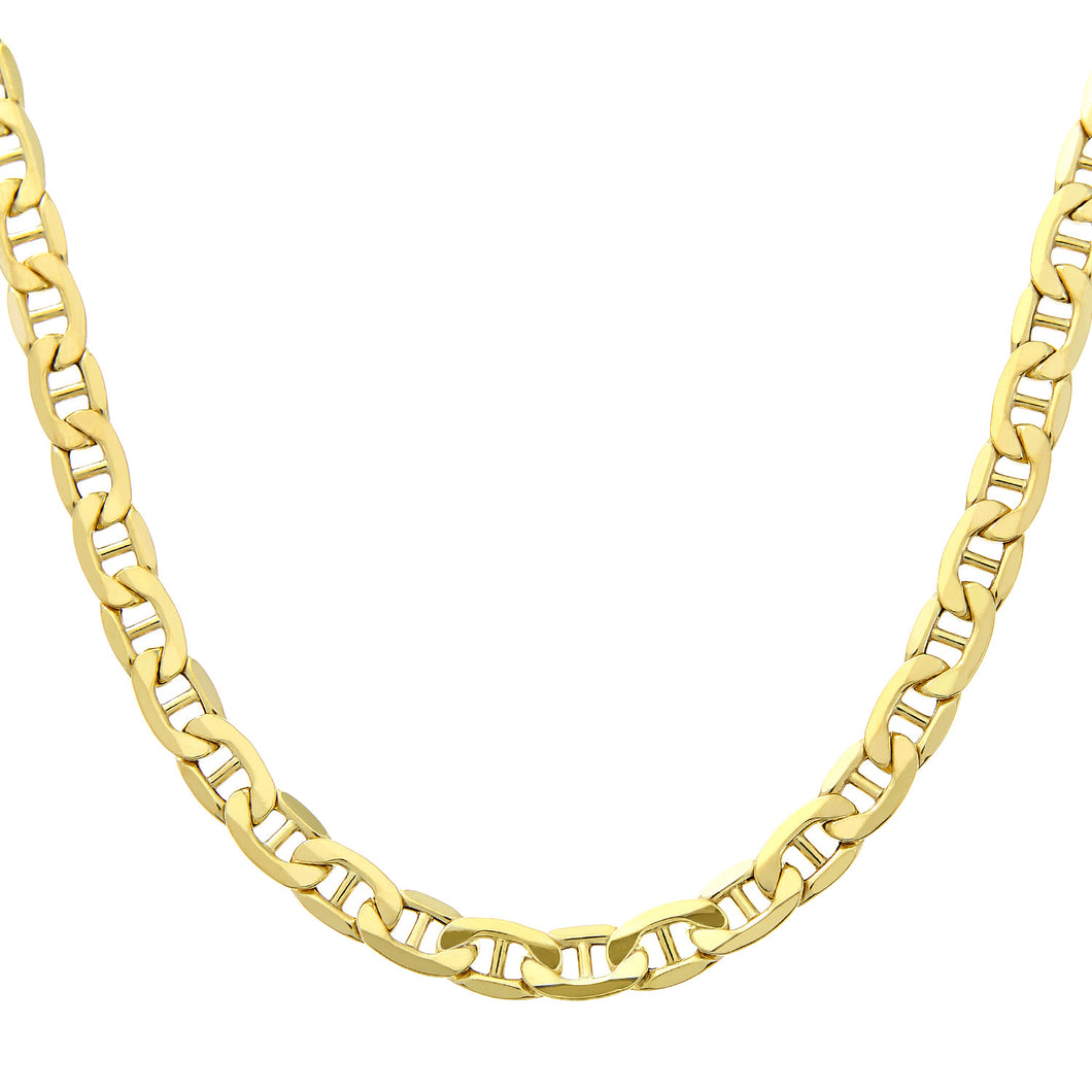 9ct Yellow Gold Wide Anchor Chain of 24 Inch/61cm Length and 0.6cm Width