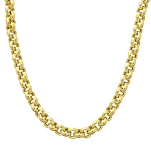 Load image into Gallery viewer, 9ct Yellow Gold Thick Belcher Necklace of 18 Inch/46cm Length and 0.5cm Width