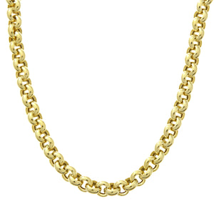 9ct Yellow Gold Thick Belcher Necklace of 18 Inch/46cm Length and 0.5cm Width