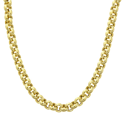 9ct Yellow Gold Thick Belcher Chain of 20 Inch/51cm Length and 0.5cm Width