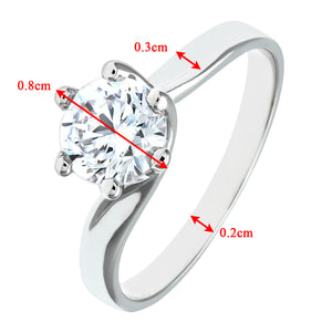 9ct White Gold Ladies Stone Set Engagement Ring