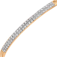 Load image into Gallery viewer, 9ct Yellow Gold Half Carat Diamond Pave Set Bangle
