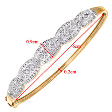 Load image into Gallery viewer, 9ct Yellow Gold Diamond Ladies Bangle