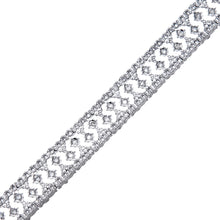 Load image into Gallery viewer, 9ct White Gold Diamond Ladies Bracelet