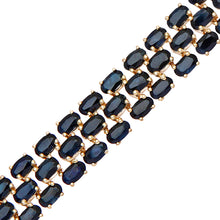 Load image into Gallery viewer, 9ct Yellow Gold Ladies Sapphire Bracelet