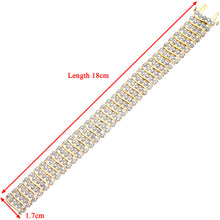 Load image into Gallery viewer, 9ct Yellow Gold Ladies Diamond Bracelet