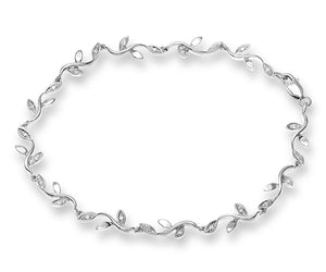 9ct White Gold Ladies 10pt Diamond Bracelet
