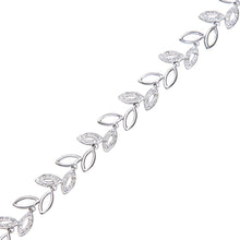 Load image into Gallery viewer, 9ct White Gold 0.25ct Diamond Pave Set Oval Link Bracelet