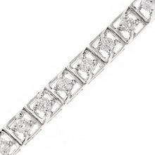 Load image into Gallery viewer, 9ct White Gold Total 2.00ct Diamond Tennis Bracelet of Length 18.2cm