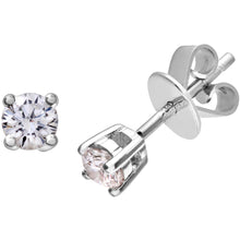 Load image into Gallery viewer, Diamond Stud Earrings, 18ct White Gold IJ/I Round Brilliant Certified Diamond Earrings, 0.25ct Diamond Weight