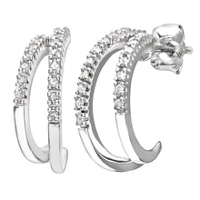 Load image into Gallery viewer, 9ct White Gold Ladies 15pt Diamond Earrings