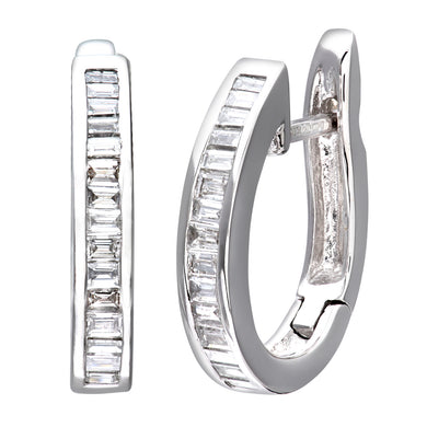 18ct White Gold Ladies Diamond Earrings