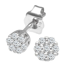 Load image into Gallery viewer, 9ct White Gold Ladies 10pt Diamond Earrings