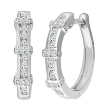 Load image into Gallery viewer, 9ct White Gold Ladies Diamond Earrings