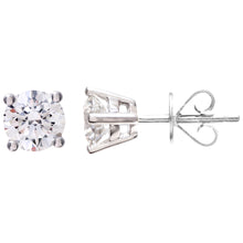 Load image into Gallery viewer, Diamond Stud Earrings, 18ct White Gold IJ/I Round Brilliant Certified Diamond Earrings, 1.00ct Diamond Weight