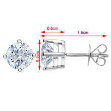 Load image into Gallery viewer, 18ct White Gold 1.50ct Certified IJ/I Diamond Solitare Earrings