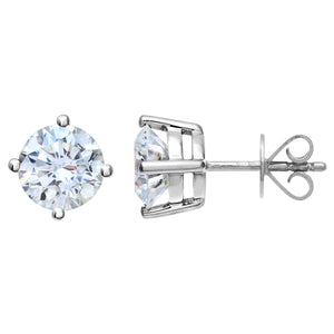18ct White Gold 2.00ct Certified IJ/I Diamond Solitare Earrings