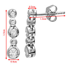 Load image into Gallery viewer, 9ct White Gold 0.25ct 5-Stone Diamond Drop Earrings