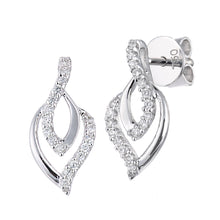 Load image into Gallery viewer, 18ct White Gold Diamond Set Drop Earrings
