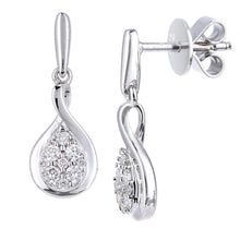 Load image into Gallery viewer, 18ct White Gold Diamond Drop Earrings