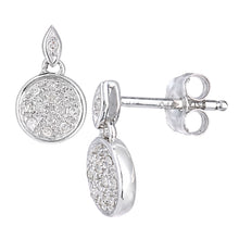 Load image into Gallery viewer, 9ct White Gold Diamond Drop Earrings