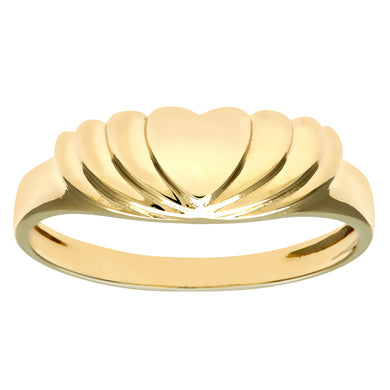 9ct Yellow Gold Ladies Heart Ring