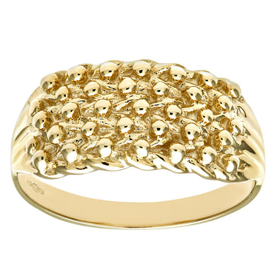 9ct Yellow Gold Ladies Keeper Ring