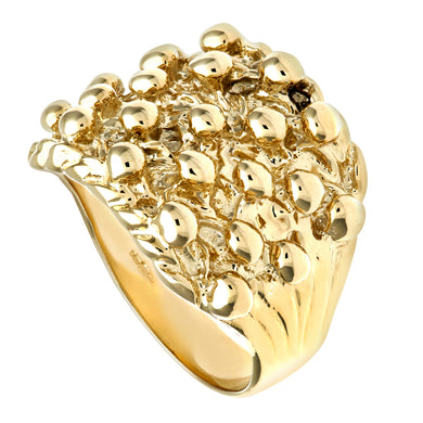 9ct Yellow Gold Men's Keeper Ring