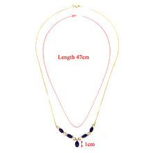 Load image into Gallery viewer, 9ct Yellow Gold Diamond and Sapphire Ladies Necklace