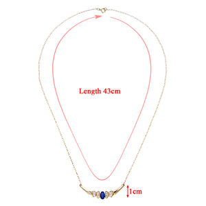 9ct Yelow Gold Diamond and Sapphire Ladies Necklace
