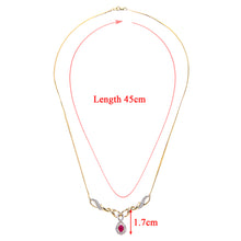 Load image into Gallery viewer, 9ct Yellow Gold Diamond and Ruby Ladies Necklace