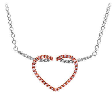 9ct White Gold Ladies 25pt Diamond Necklace