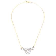 Load image into Gallery viewer, 9ct Yellow Gold Diamond Ladies Necklace