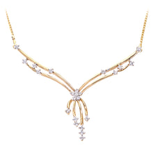 Load image into Gallery viewer, 9ct Yellow Gold Ladies Diamond Necklace