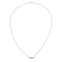 Load image into Gallery viewer, 9ct White Gold 0.15ct Diamond Trilogy Necklace of 41cm