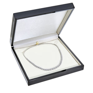 18ct White Gold Spectacular Halo Set 7.50ct Diamonds Certified G/SI1 Single Strand Necklace of 46 cm