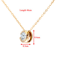"Load image into Gallery viewer, 9ct Yellow Gold Rub Set 0.15ct Diamond Pendant and 18"" Chain"