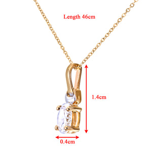 "9ct Yellow and White Gold Ladies Cubic Zirconia  Birth Stone Pendant + 16"" Yellow Gold Trace Chain"