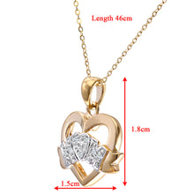"Load image into Gallery viewer, 9ct Yellow Gold Diamond Mum Pendant Heart Shape 18"" Chain"