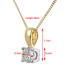Load image into Gallery viewer, Diamond Solitaire Pendant, 18ct Yellow Gold IJ/I Round Brilliant Certified Diamond Pendant, 0.50ct Diamond Weight