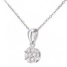 Load image into Gallery viewer, 9ct White Gold Diamond Cluster Necklace of Length 46cm