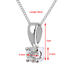 Load image into Gallery viewer, Diamond Solitaire Pendant, 18ct White Gold H/SI Round Brilliant Certified Diamond Pendant, 0.25ct Diamond Weight