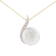 Load image into Gallery viewer, 9ct Yellow Gold, 0.02ct Diamonds with White Cultured pearl Pendant
